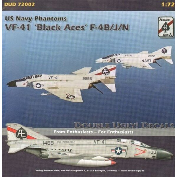 F-4B/F-4J/F-4N Phantoms, VF-41 Black Aces. (6) F-4B 150635 AG/138 1964; 149433 AG/131 1965; 150491 AG/100 CAG, all USS Independe