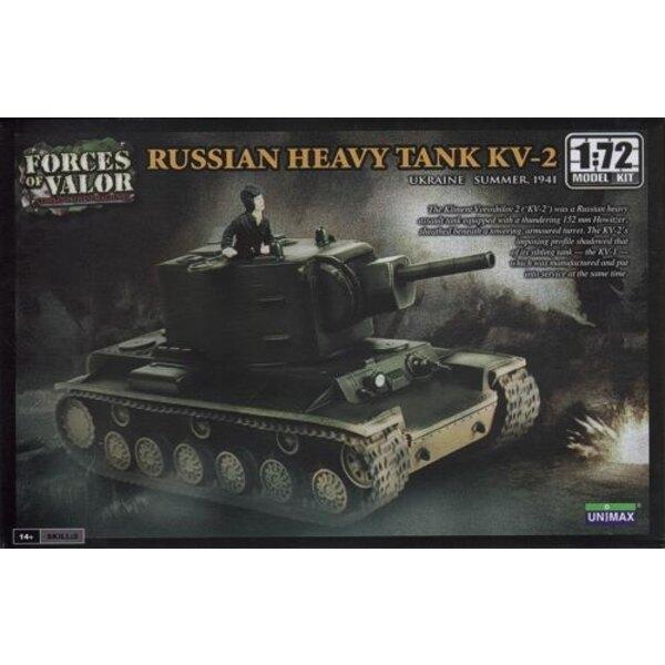 KV-2 Schwerer Panzer - ACHTUNG: Dies ist ein Modellbausatz und NICHT eine Miniatur bereits montiert