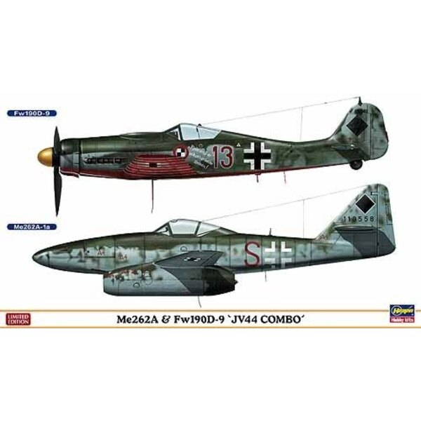 Me 2 62 & Fw 190D-9 JV 44 Combo 2 Bausätze im Kasten