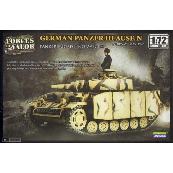 PANZER III AUSF.N PANZER - ACHTUNG: Dies ist ein Modellbausatz und NICHT eine Miniatur bereits montiert
