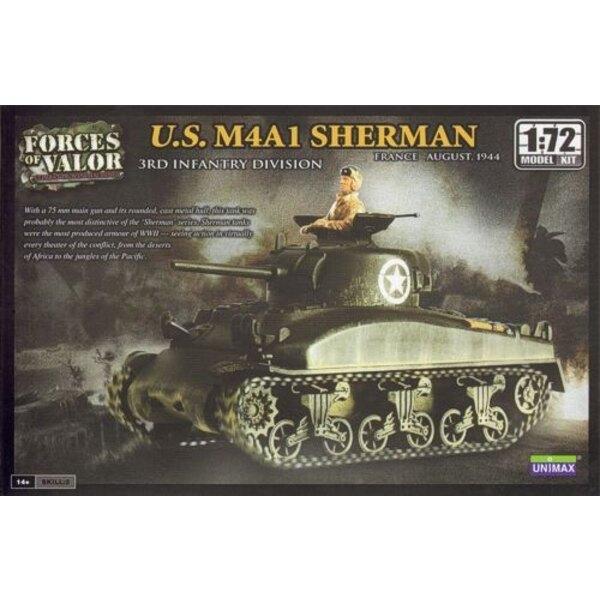 M4A1 Sherman - ACHTUNG: Dies ist ein Modellbausatz und NICHT eine Miniatur bereits montiert