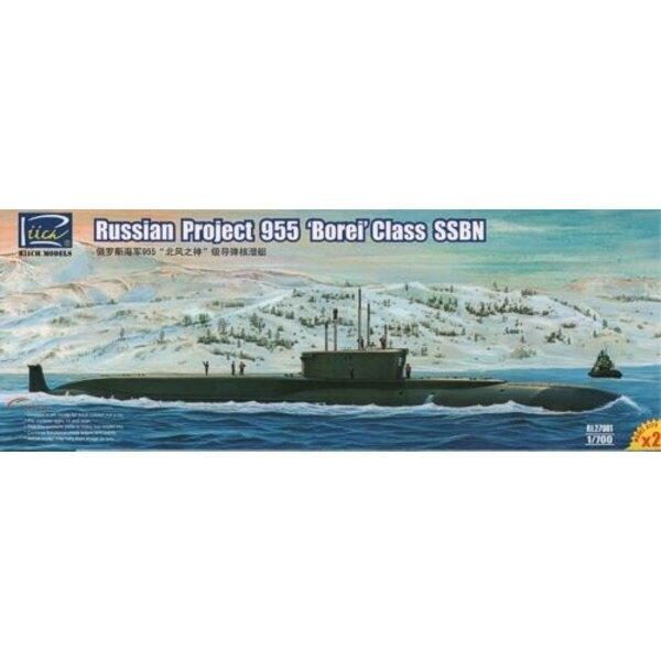 Russische Projekt 955 Borei Klasse SSBN (Model Kits X2)