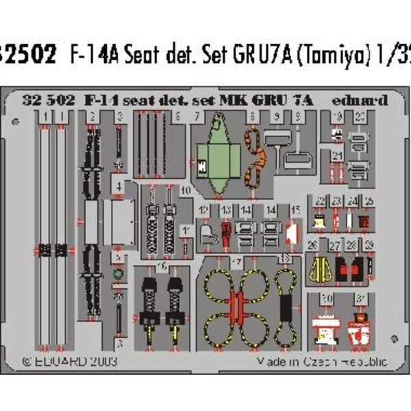 GRU7A Sitzdetails für Grumman F-14 in Farben vorgemalt! (für Bausätze von Tamiya)