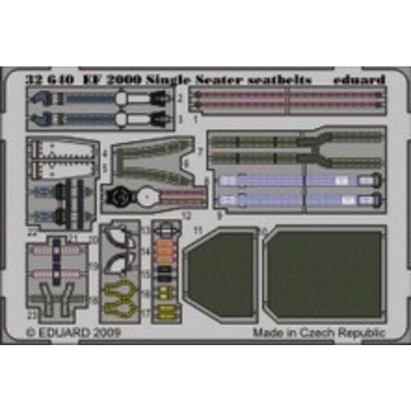Eurofighter EF-2000 Typhoon einsitzig Sicherheitsgurte (für Bausätze von Trumpeter)