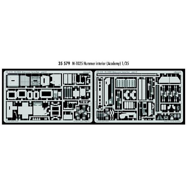 Interior von M102 5 Hummer (für Bausätze von Academy)
