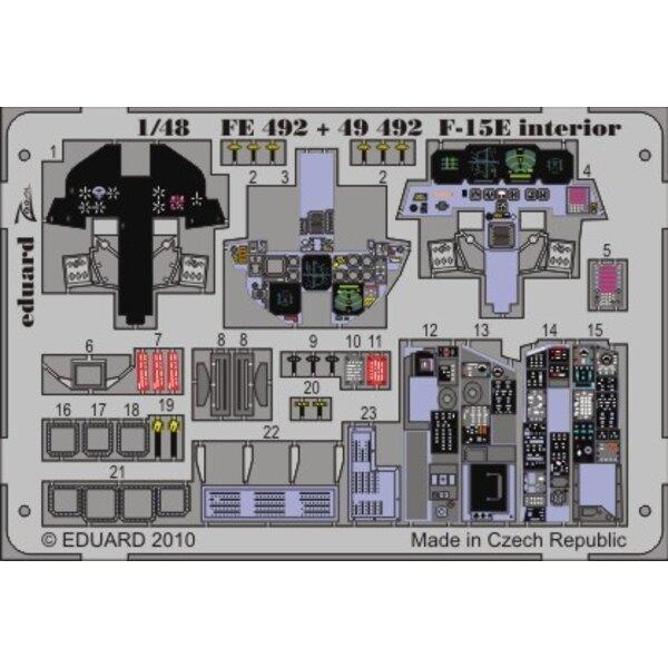 Interior von McDonnell Douglas F-15E Eagle (selbstklebend) (für Academy AC12215 Bausätze)