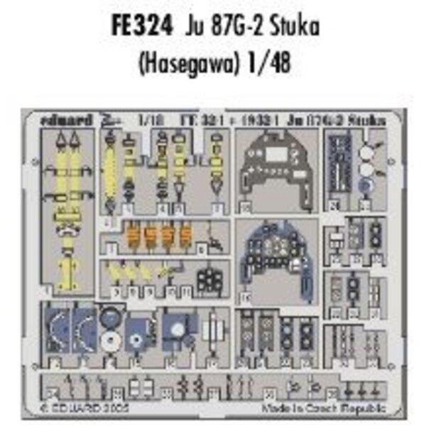 Junkers Ju 87G-2 Stuka in Farben vorgemalt! (für Bausätze von Hasegawa) Dieser 'Zoom Set' ist eine vereinfachte Version der Stan