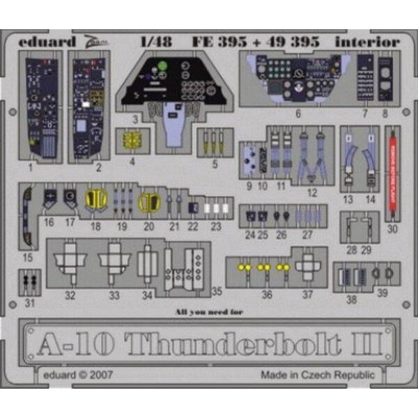 Fairchild A-10 Thunderbolt II Interior (selbstklebend) in Farben vorgemalt! (für Bausätze von Hobby Boss) Dieser 'Zoom Set' ist