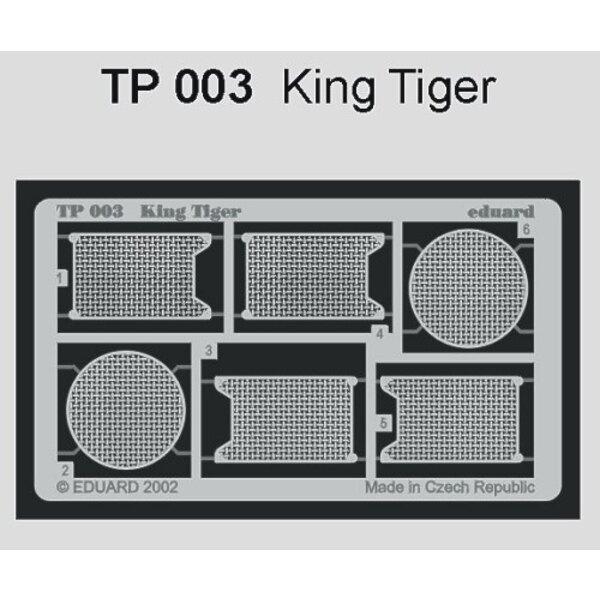 Grills von König Tiger (für Bausätze von Tamiya)