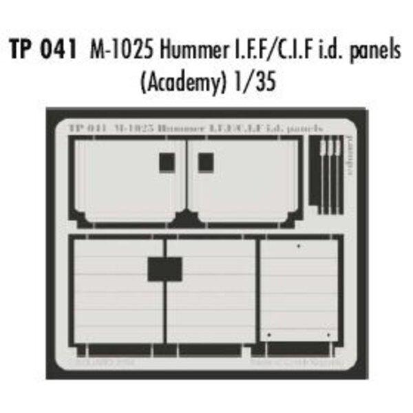 M102 5 Hummer IFF/CIFid Tafeln (für Bausätze von Academy)