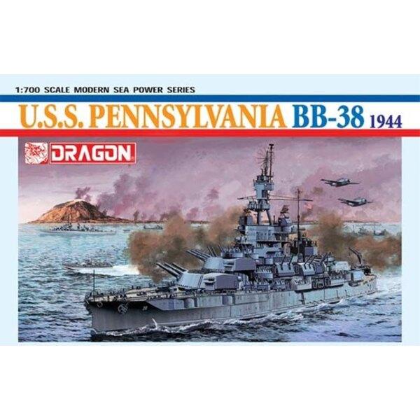 Schlachtschiff uss pennsylvania 1:700