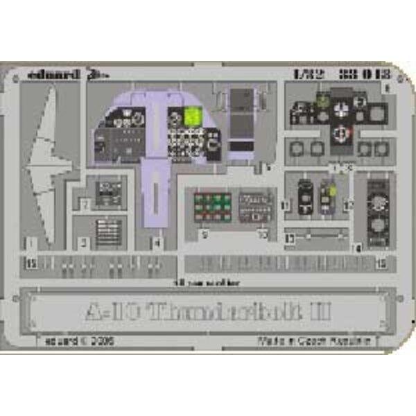 Fairchild A-10 Thunderbolt II Schalttafel in Farben vorgemalt! (für Bausätze von Trumpeter)