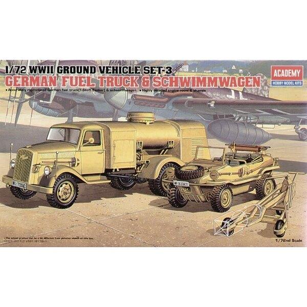2WK-Deutscher Fuel Truck & Schwimwagen