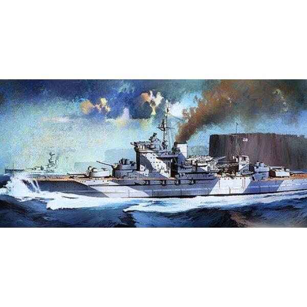 HMS Warspite. Schlachtschiff von der Klasse Queen Elizabeth