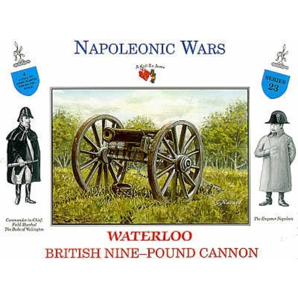 1 x britische 9-pfd.-Kanone