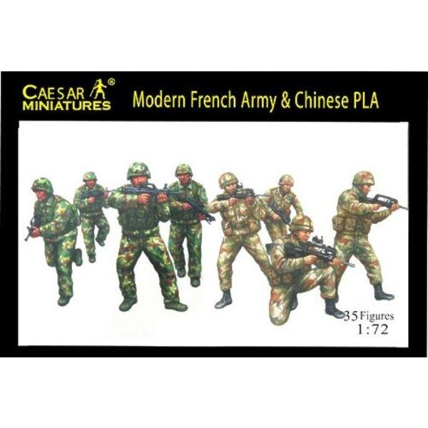 Modern französische Armee mit chinesischem PLA