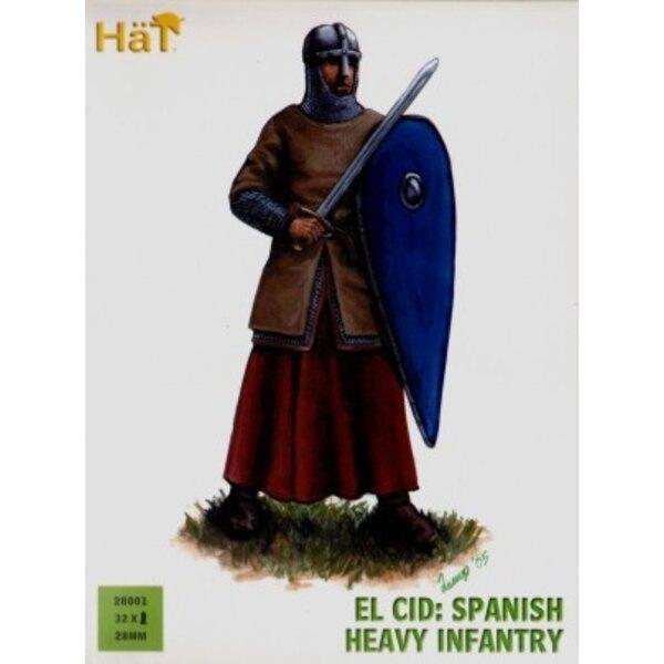 El Cid-Spanisch Schwere Artillerie x 36 harte Plastikfiguren