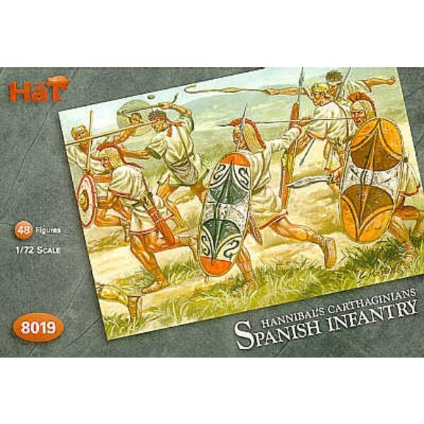 Karthagische spanische Infanterie. 48 Figuren: 24 Scutari 12 Caetrati 12 BAeleric Slingers