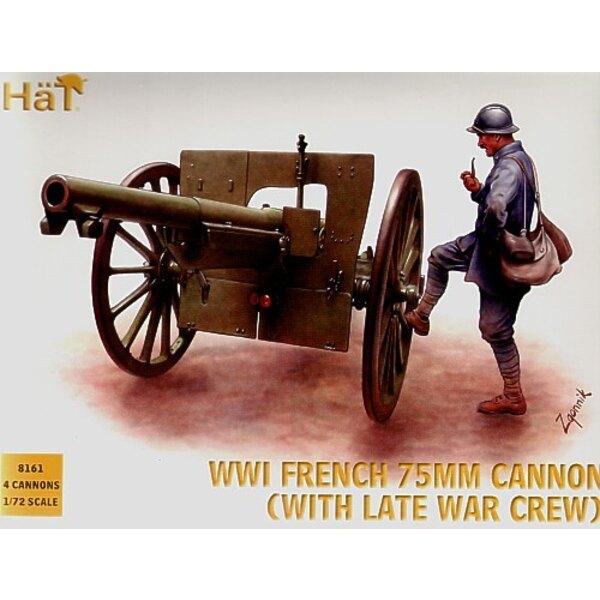 1.WK Französisch 75-Mm-Kanone mit Besatzung (Helm)
