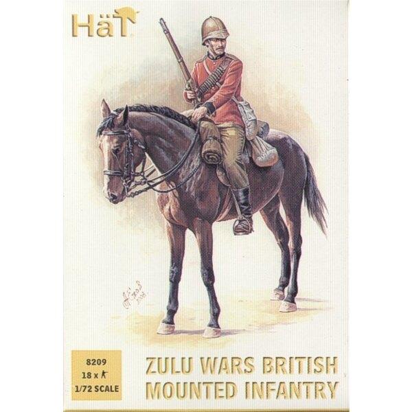 Zulukriege. Britischer Mounted Infanterie