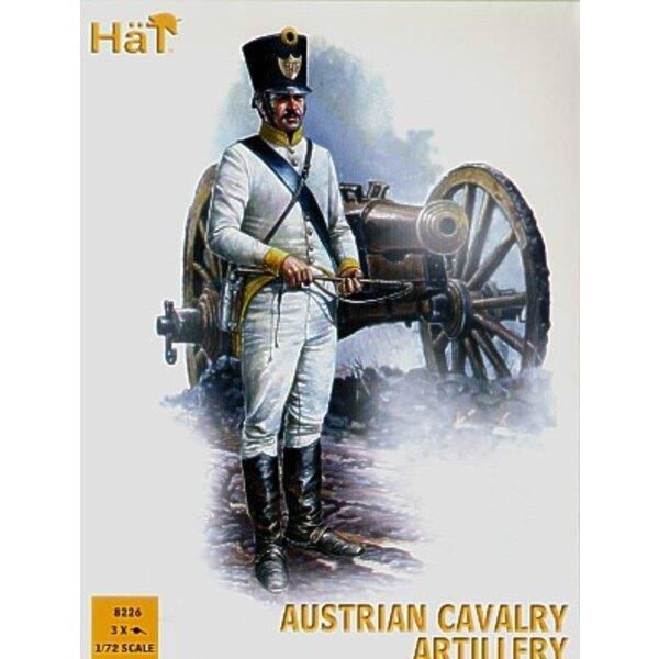 Napoleonische österreichische Kavallerie-Artillerie