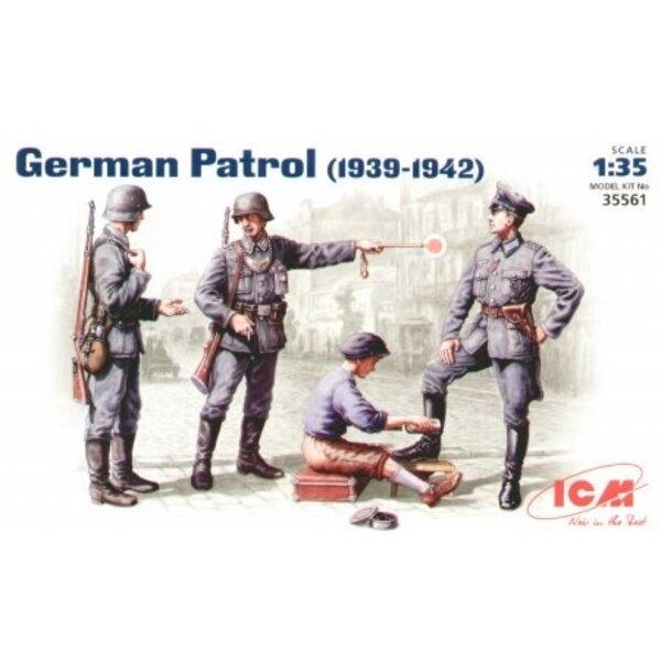 Deutsche Patrouille (1939-42) Satz von 4 Figuren