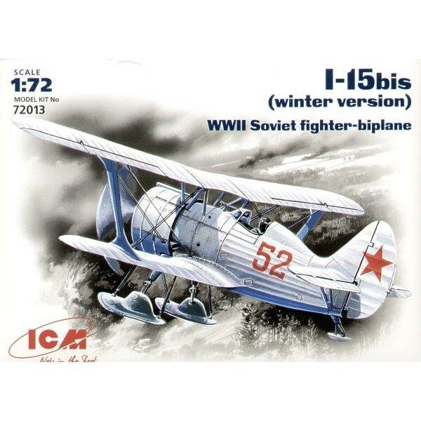 Polikarpov I-15bis Russisch-Flugzeug mit Skis