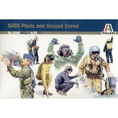 NATO-Piloten und Grundmannschaft