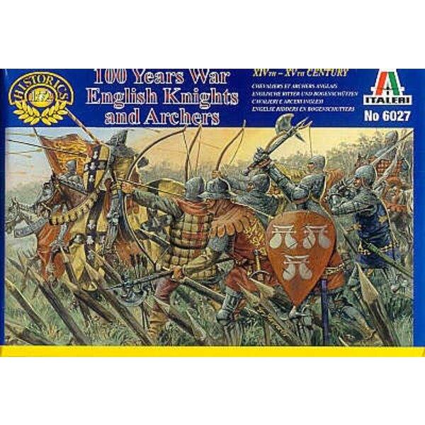 englische Ritter und Bogenschützen - 100 Jahr Krieg