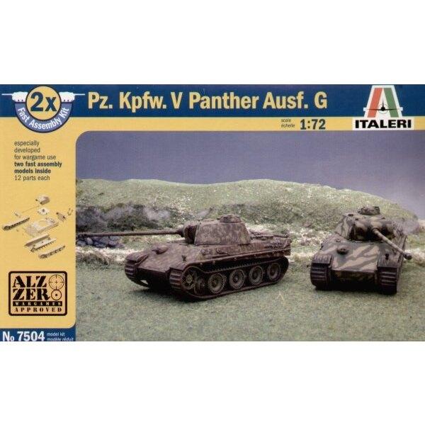 """Pz.Kpfw.V Panther Ausf. G """"Snap together"""" : beinhaltet 2 Panzer-Bausätze"""