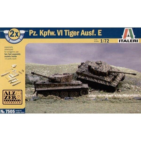 """Pz.Kpfw.VI Tiger I Ausf. E """"Snap together"""" beinhaltet 2 Panzer-Bausätze"""