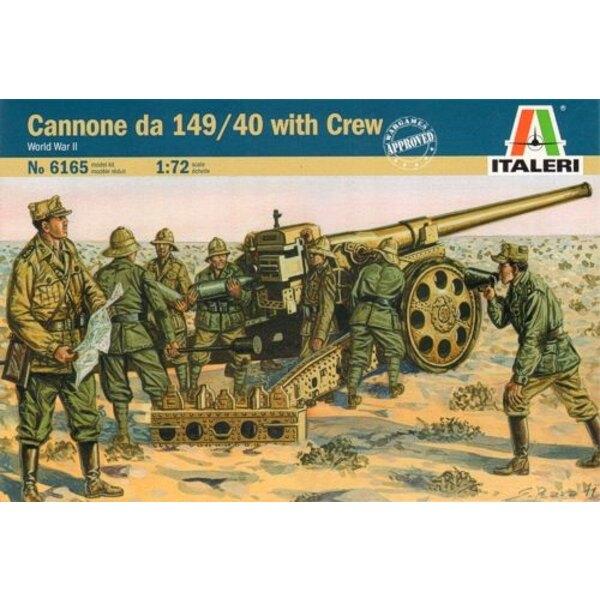 Cannone da 149/40 mit Besatzung