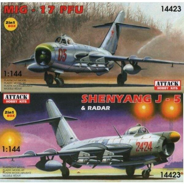 Mikojan MiG-17PFU + Shenyang J-5 (2 Kits)