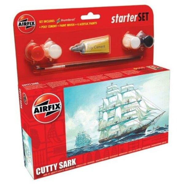 Cutty Sark Starter Set. Inklusive 4 Acrylfarben, Pinsel und Poly Zement.