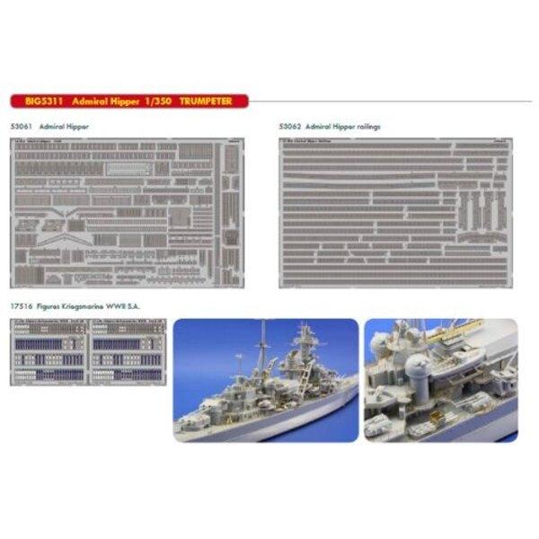 Admiral Hipper (für Modelle von Trumpeter) Das Big-Ed Set beinhaltet alle diese Eduard-Sets.) ED17516 Figuren Kriegsmarine 2.WK