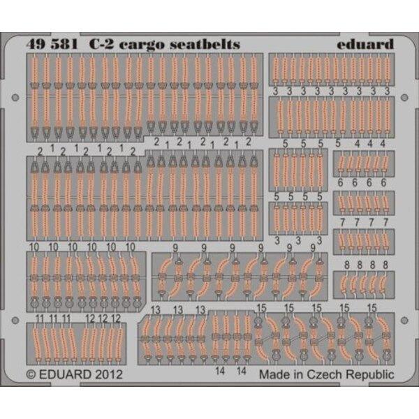 Grumman C-2A Greyhound cargo Sitzgurte (für Modelle von Kinetic)