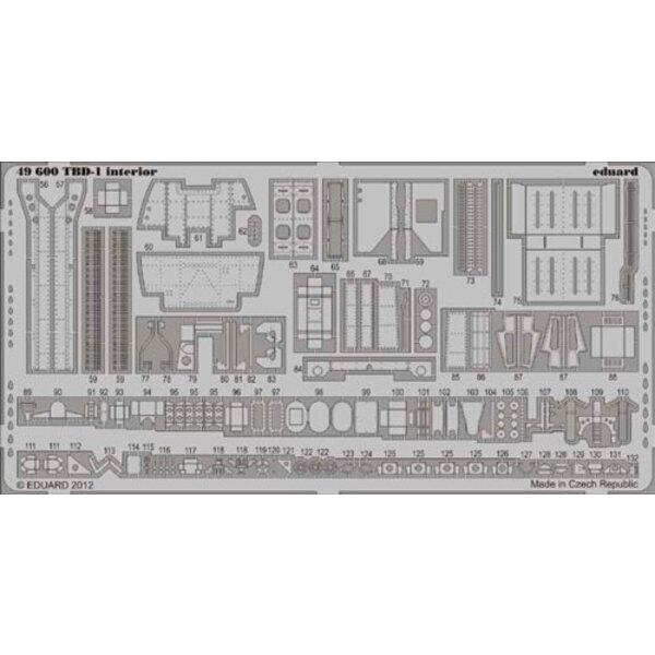 Douglas TBD-1 Devastator Innenraum (selbstklebend) (für Modelle von Great Wall Hobby)