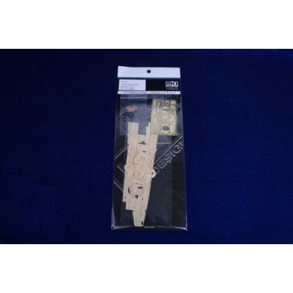 GRAF SPEE Holzdeck (für Modelle von Trumpeter)