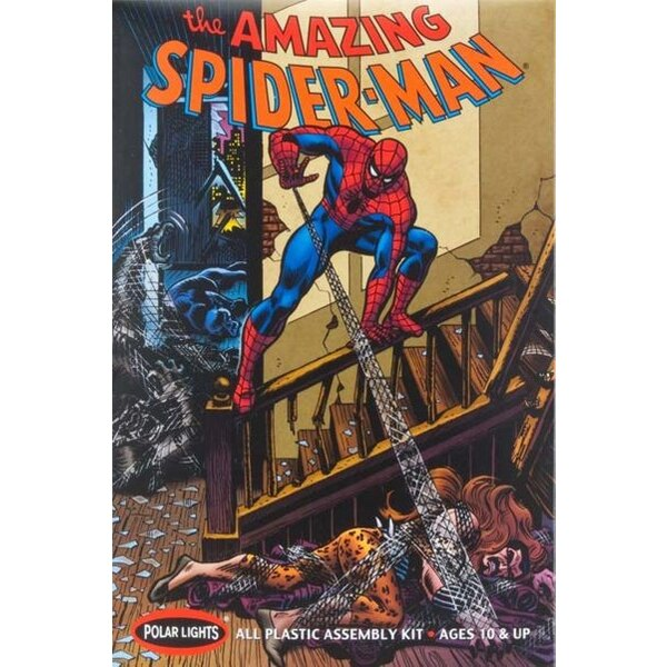 Spider-Man. Includes original story, detailed instructions and backdrop mural to make a 3D action display