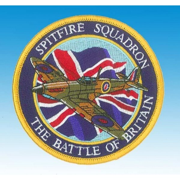 Patch Spitfire Heroes of the Sky Union Jack ""