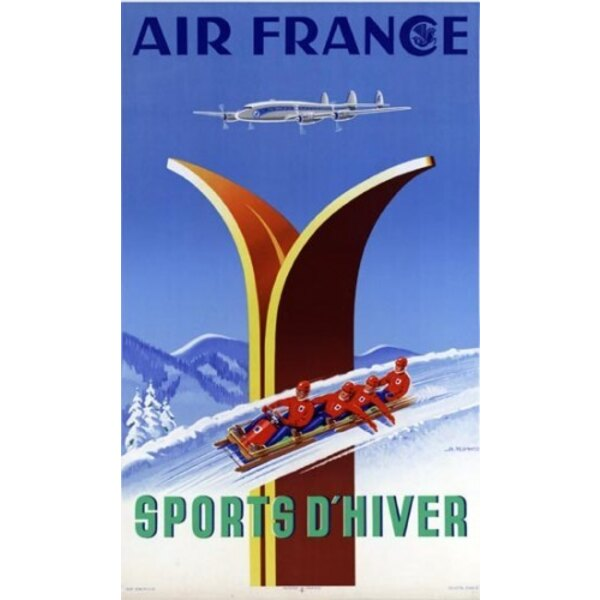 Air France - Wintersport - A.Kow 1951
