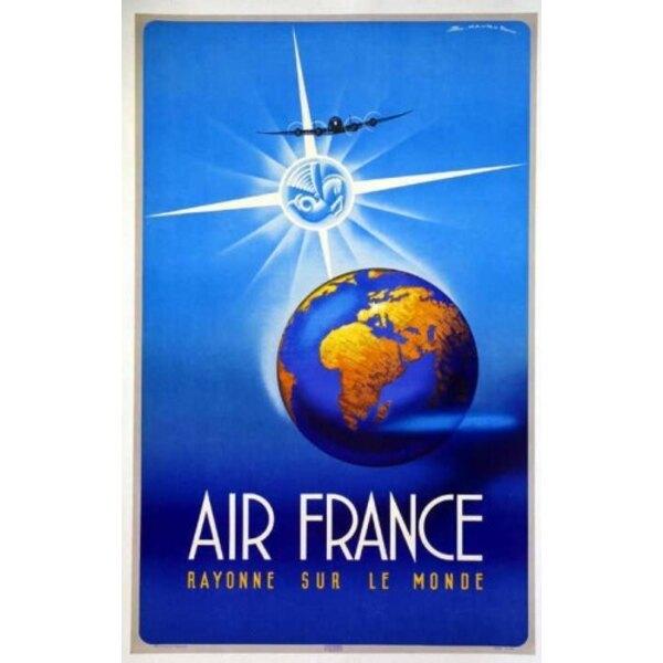 Air France - Rayon auf der Welt - 1948 Maurus