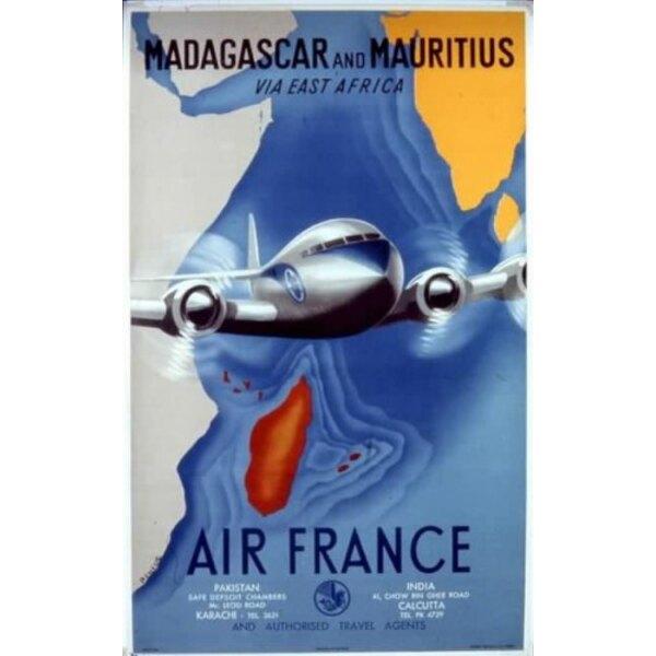 Air France - Madagaskar und Mauritius-Renluc 1950