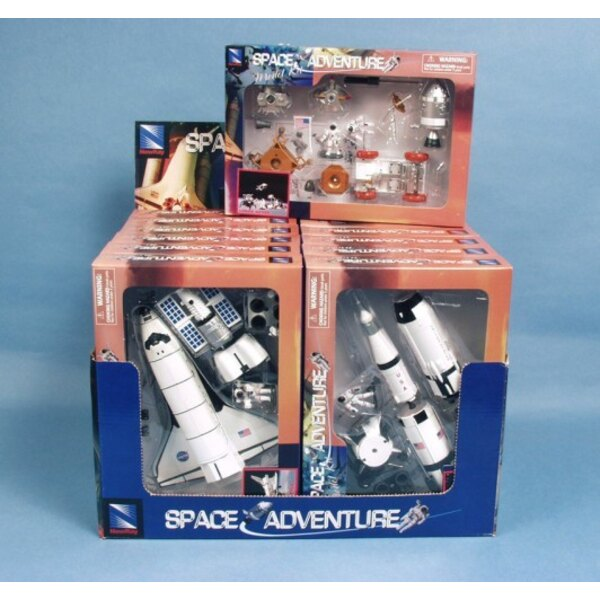 Space Adventure + Station + Shuttle + rocket rover (3x4