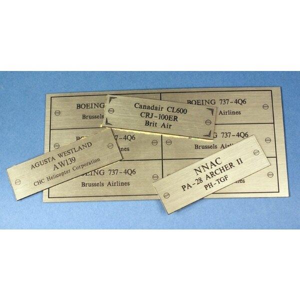 A-Plaque Engraved - gravierte Schilder