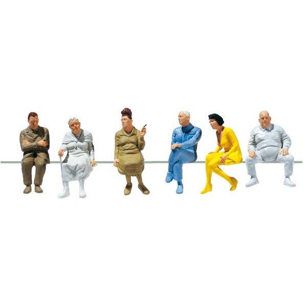 6 sitzende Waggon-Reisende I