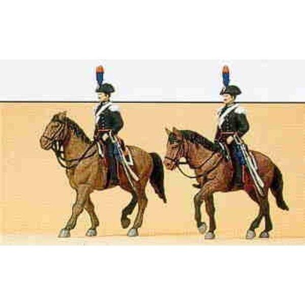 Italienische Polizei auf dem Pferderücken