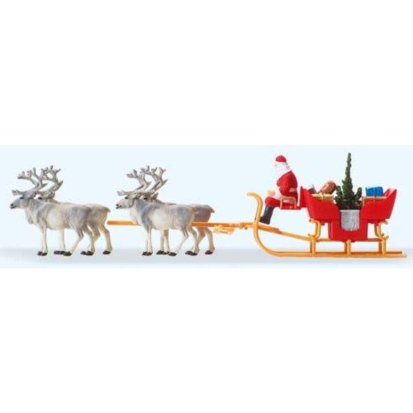 Santa Schlitten mit vier Rentieren