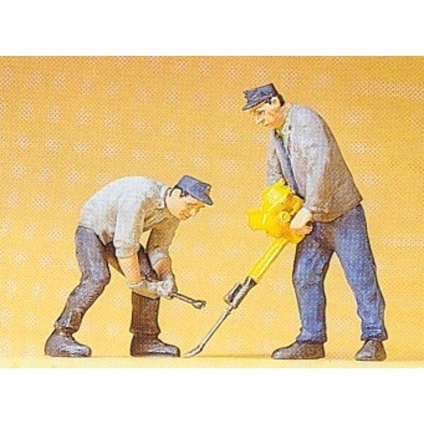 2 Arbeiter Track + speciau Werkzeuge