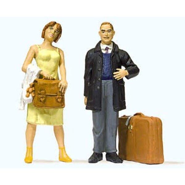 Paar von Reisenden